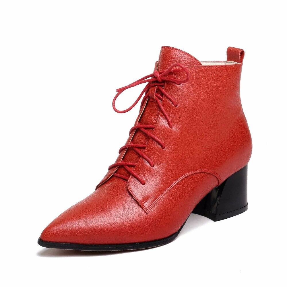 Parti Rouge Couleur Streetwear Véritable L8f2 Cheville À Décoration Krazing Noir Au Mode Garder Bottes rouge Rencontre Cuir Lacets Pot Chaud Profession 580xE8wqz