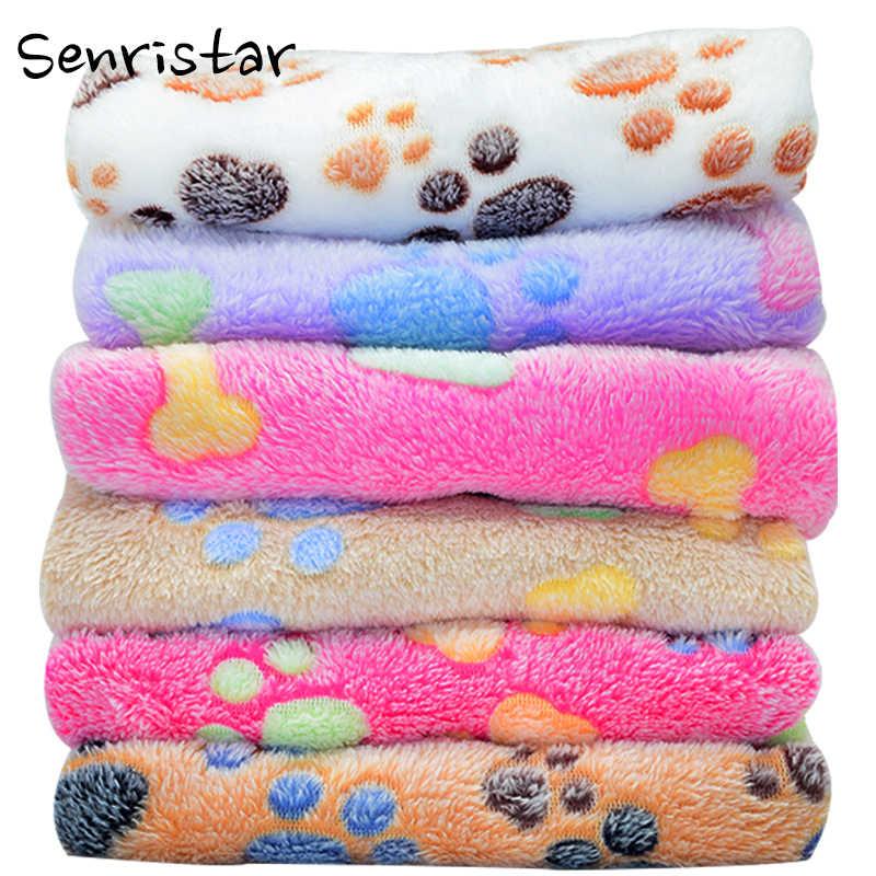 Couverture douce de lit de chien de sommeil d'ouatine de corail pour le petit moyen grand tapis de lit de chat de chien