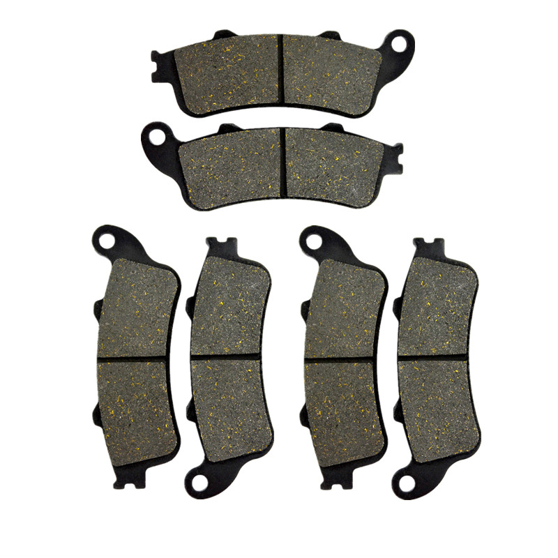 Motorcycle Front & Rear Brake Pads Discs Kit For HONDA NRX1800 Rune 18 2004-2005 VTX1800 02-13 VFR800 Interceptor 98-05 Pad Disc mfs motor motorcycle part front rear brake discs rotor for yamaha yzf r6 2003 2004 2005 yzfr6 03 04 05 gold