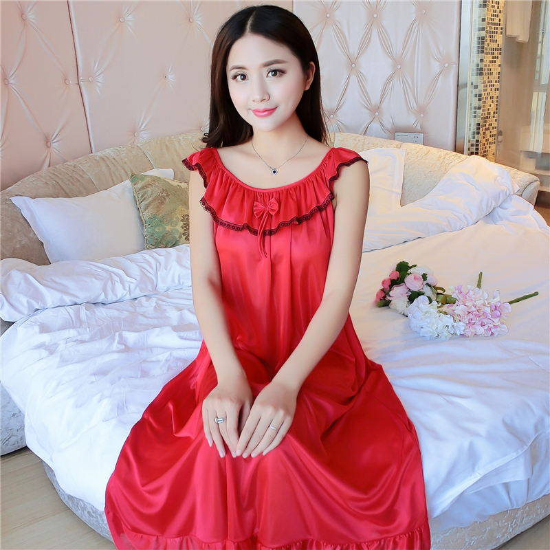 Hot Women Night Gowns Sleepwear Nightwear Long Sleeping Dress Luxury Nightgown Women Casual Night Dress Ladies Home Dressing Z79 2