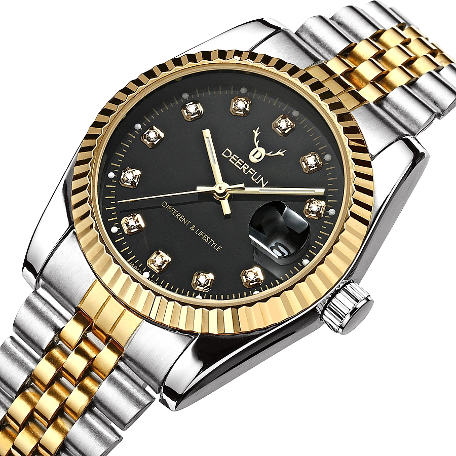2018 New DEER FUN Watches Men Top Luxury Brand Hot Design Military Sports Wrist Watches Men Digital Quartz Men Steel Band Watch