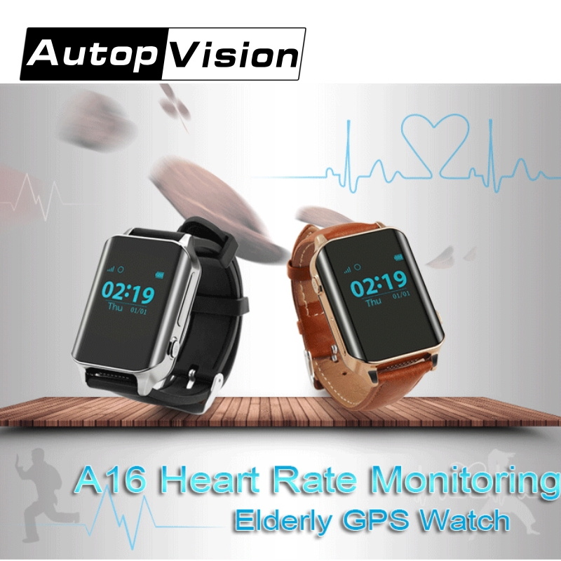 A16 GPS Tracker Heart Rate Monitor Smart Watch for Elderly Clock Alarm Lifetime GPS Platform for Elder/ Disbled/Patient SOS Call цена