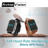 A16 GPS izci nabız monitörü akıllı saat yaşlılar için saat alarmı ömür boyu GPS platformu yaşlı/Disbled/hasta SOS çağrı