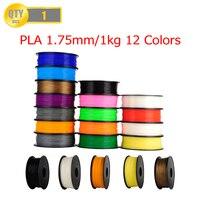 PLA Filament 1kg/Roll1.75mm 3D Printer Filament for RepRap i3 3D Printer Machine Many Colors Optional US Warehouse Random Color