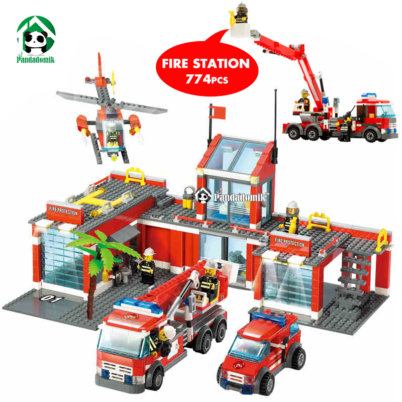 Aliexpress.com : Buy Super Large Fire Station 774 Pcs Building Blocks Helicopter Educational
