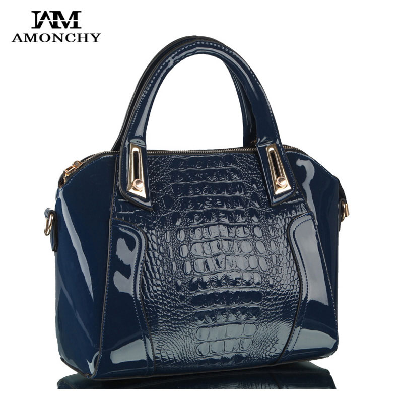 ФОТО 2016 Fashion Alligator Women's Handbags Luxury PU Leather Women Shoulder Bags Crocodile Lady Totes Messenger Bag Bolsos Sac HS79
