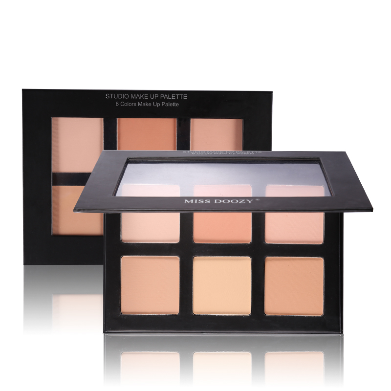 Hot Brand Facial Camouflage 6 Color Contour Palette Deep Light Bronzer 3D Face Makeup Kit Highlighter Cream Contouring Make Up