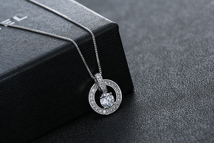 New Original fasion jewellery Crystals from Swarovskis temperament sweet bell hollow necklace For Women Female Party gift