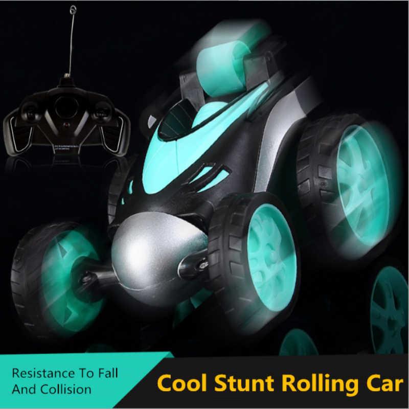 RC araba 90 ° dik yürüyüş kablosuz RC tumbling dublör araba 360 rotasyon çarpışma dayanıklı vücut RC araba çocuk erkek oyuncaklar hediye