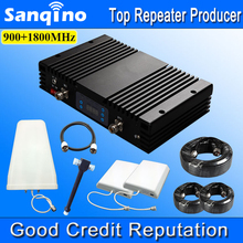 Sanqino Powerful Dual Band Repeater GSM 900MHz 1800MHz Cellphone Signal Booster LCD Mobile Phone Signal Repeater