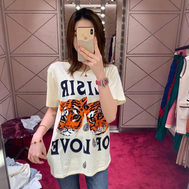 AH0615 Модные женские Топы И Футболки 2019, Подиумные Роскошные вечерние футболки известного бренда Европейского дизайна, женская одежда