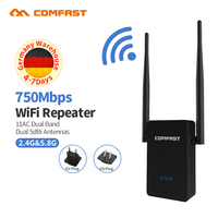 750Mbps Dual Band Wireless WIFI Repeater 2 5dbi Antenna Wifi Network Extender Signal Amplifier 802 11n