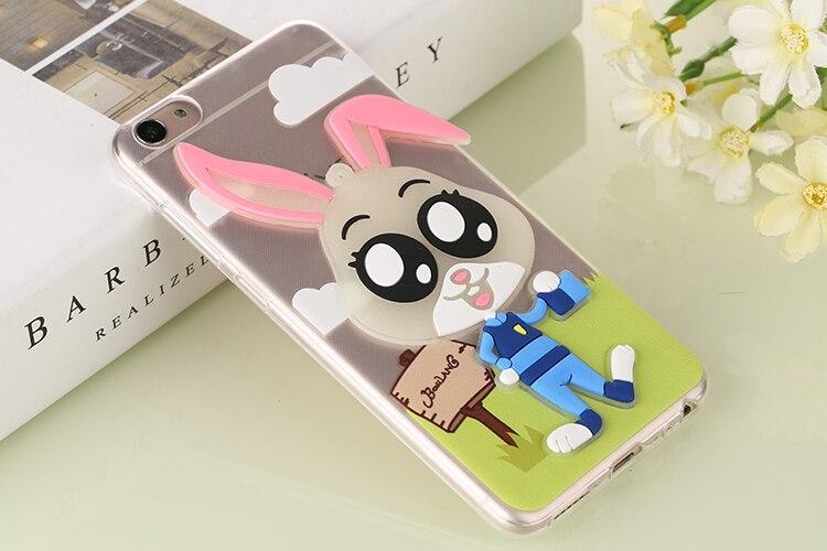 ec933f45fa26 Cartoon Dipinta Luminoso Coperture Del Telefono Mobile Per BBK VIVO X7  Copertura Del Coniglio di Caso di Alta Qualità Tpu Judy