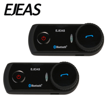 2 pcs EJEAS E2 1200 m Gamme Bluetooth 3.0 Full Duplex 4 Coureurs Mains Libres Deux-Way Moto Casque Casque interphone Interphone
