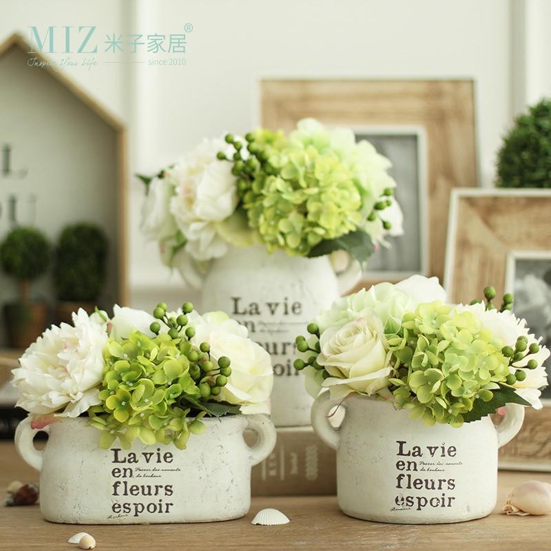 Freshing Green Artificial Hydrangea Berries Vase