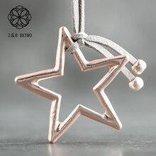 Ожерелья со звездами, ручная работа, фланелет, веревка, цепочка, ожерелья для женщин, ювелирные изделия, украшение на шею, ожерелье Рождество, новые подарки для женщин
