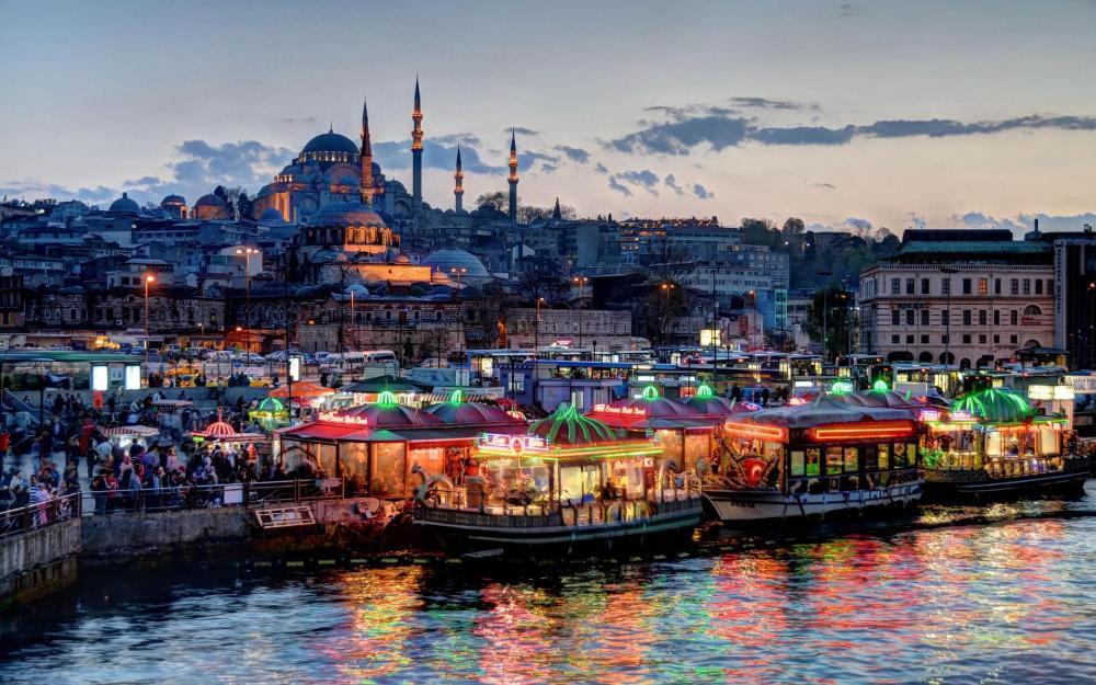 Wohnzimmer Home Wanddekoration Stoff Poster Schne Stadt Istanbul Trkei