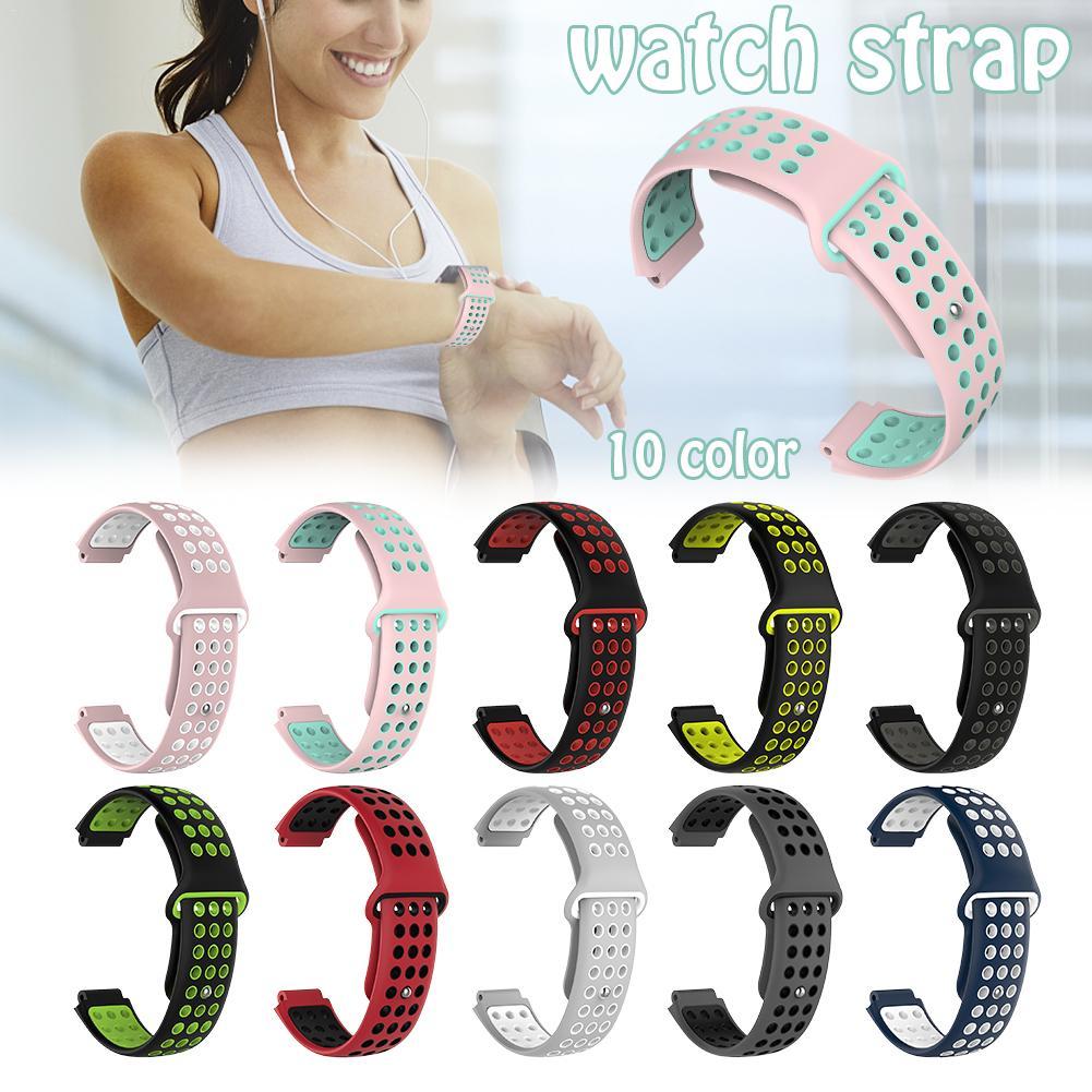 Two-color Silicone Strap For Garmin Garmin Forerunner 220 230 235 630 620 735 645 S20 S60 S50