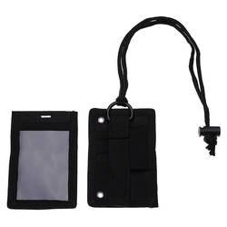 Поклонники военного стиля Тактический ID держатель для карт патч знак держатель с средства ухода за кожей шеи шнурки черный сумки для бега