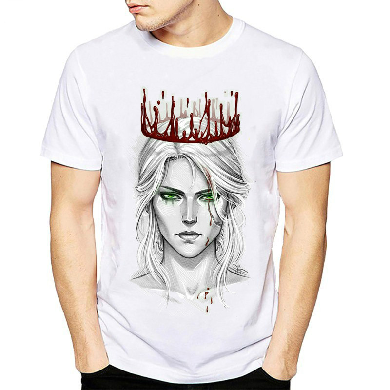 2018 The Witcher 3 T-Shirt Men Short Sleeve O Neck Cool T Shirt Game Clothing New Fashion Harajuku Streetwear Plus Size Tshirt