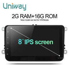 Uniway 2G 16G 2 din android car dvd for vw passat b5 b6 golf 4 5