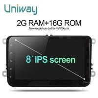 Uniway 2G + 16G 2 din android car dvd per vw passat b5 b6 golf 4 5 tiguan polo octavia rapid fabia car multimedia lettore