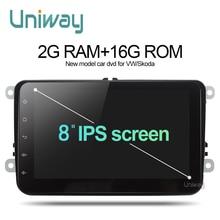 Uniway ADZ8071 2 din android 7.1 dvd del coche para vw passat b5 b6 golf 4 5 tiguan polo octavia fabia rápido reproductor multimedia de coche