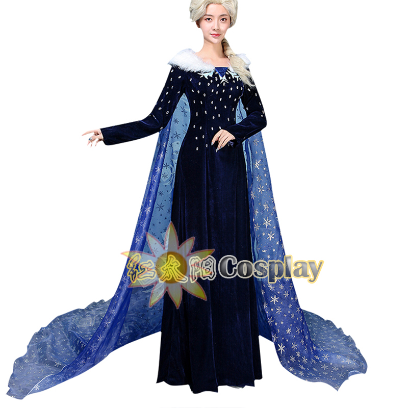 Classic Character Snow Queen Elsa Princess Cosplay Costume Live TV Version