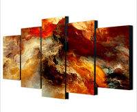 Unframed 5 Pieces Mountains Modern Abstract Painting Canvas Art Picture Print Home Decor For Living Room