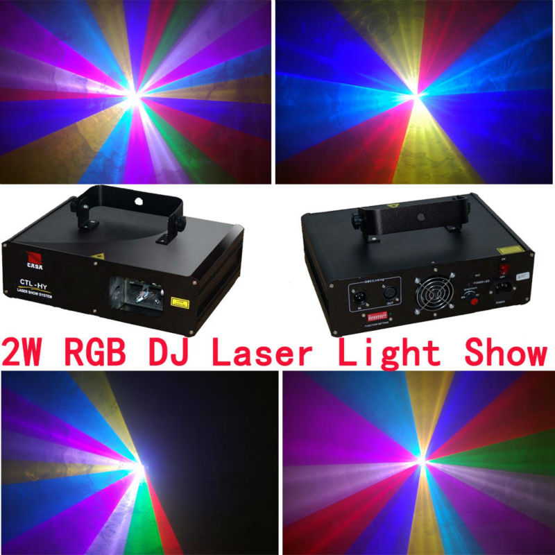 New 2000mW RGB Full Color Moving head light Party Laser Stage Light Disco DJ party lighting projector 9 moving head laser spider light green color 50mw 9 triangle spider moving head light laser dj light disco club event