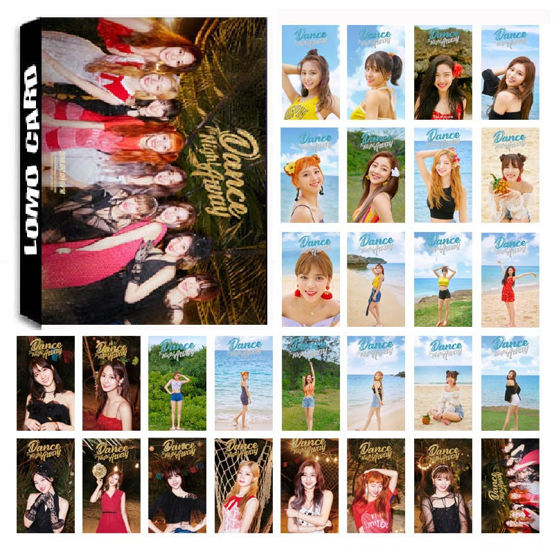 New 30Pcs/set KPOP TWICE Girls Team 06 Album SUMMER NIGHTS HD Photo Card PVC Self Made LOMO Photocard