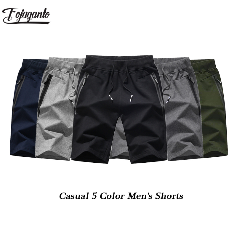 FOJAGANTO Quality Brand Men Casual Pockets Shorts 2019 Summer Men's New Board Breathable Shorts Male Fashion Casual Shorts