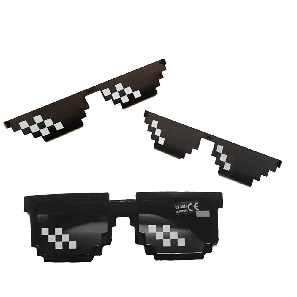 Popular Around The World 2018 New8-bit Glasses Pixels Ink Mirror Funny Glasses Mens Womens Sunglasses Women Sunglass Thug Life