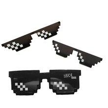 Popularny na całym świecie 2020 New8 bit okulary piksele tusz lustro śmieszne okulary męskie damskie okulary przeciwsłoneczne damskie okulary przeciwsłoneczne Thug Life