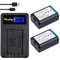 Probty 2 pcs np-np fw50 fw50 carregador de bateria + lcd para sony NEX-7 NEX-5N NEX-F3 NEX-3D NEX-3K 3DW NEX NEX-5C NEX-5DB 7R Alfa II
