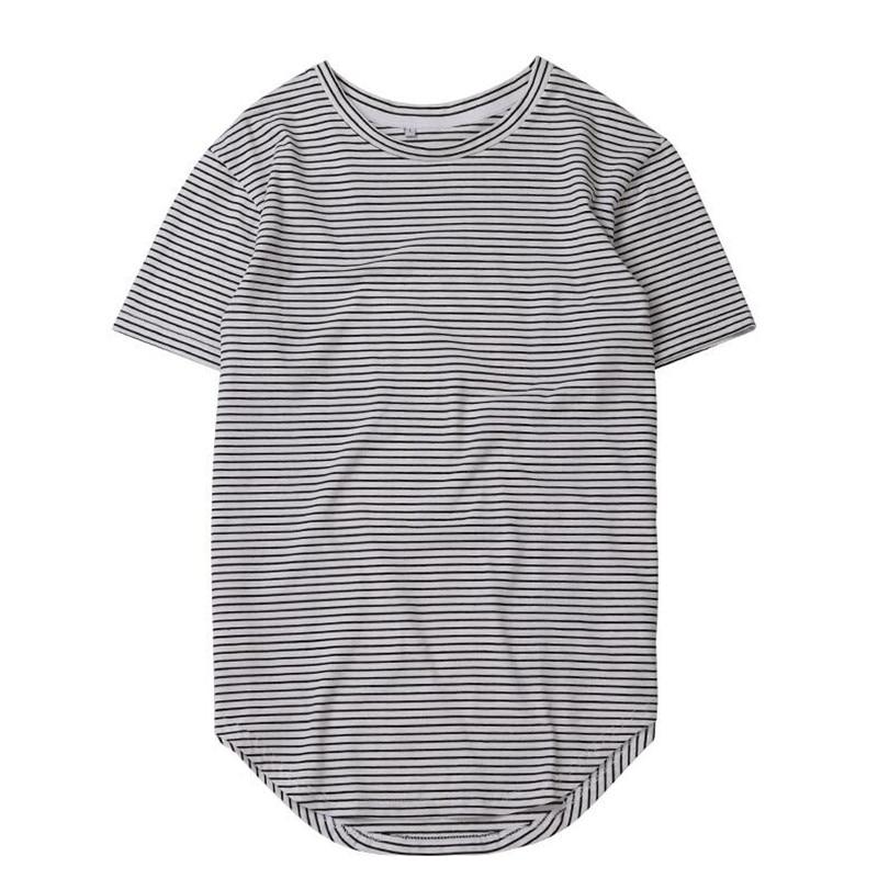HZIJUE2017 Men's T-shirt summer Solid Color Curved Hem Long Line Camouflage Hip Hop Tshirt Elong Plain Kanye Tee Shirts Men Top 5