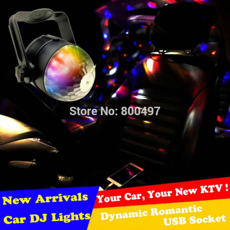New Arricval USB Auto Disco DJ Music RGB LED Strobe Light Sound Music Rhythm Dynamic Romantic Laser DJ Lights KTV Stage Light