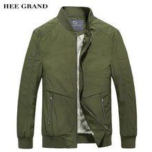 HEE GRAND Männer Stilvolle Jacken 2017 Neue Frühling Herbst Stehen kragen Rib Sleeve Schmal Geschnittene Dünne Jacken Plus Größe M-3XL MWJ2371