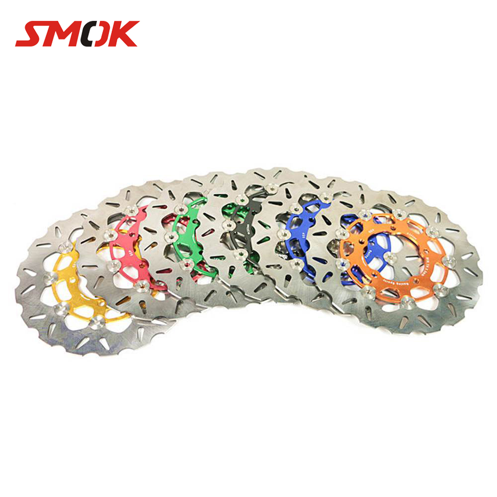 SMOK Motorcycle Scooter 260mm Stainless Steel Front Brake Rotor Floating Disc Adapter Bracket For Yamaha BWS X 125 Cygnus 125 motorbike soocter 260mm racing sport motorcycle bearing brake rotor disc for yamaha bws x 125 cygnus 125 stainless steel