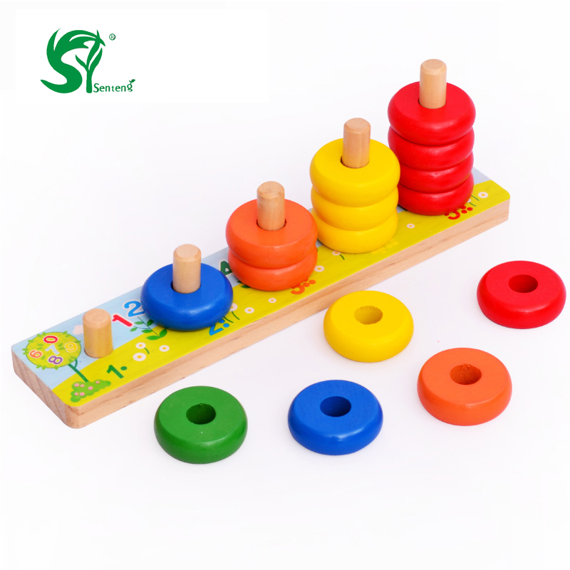 Kids toys Montessori 5 Level Clouds Computation Beads ...