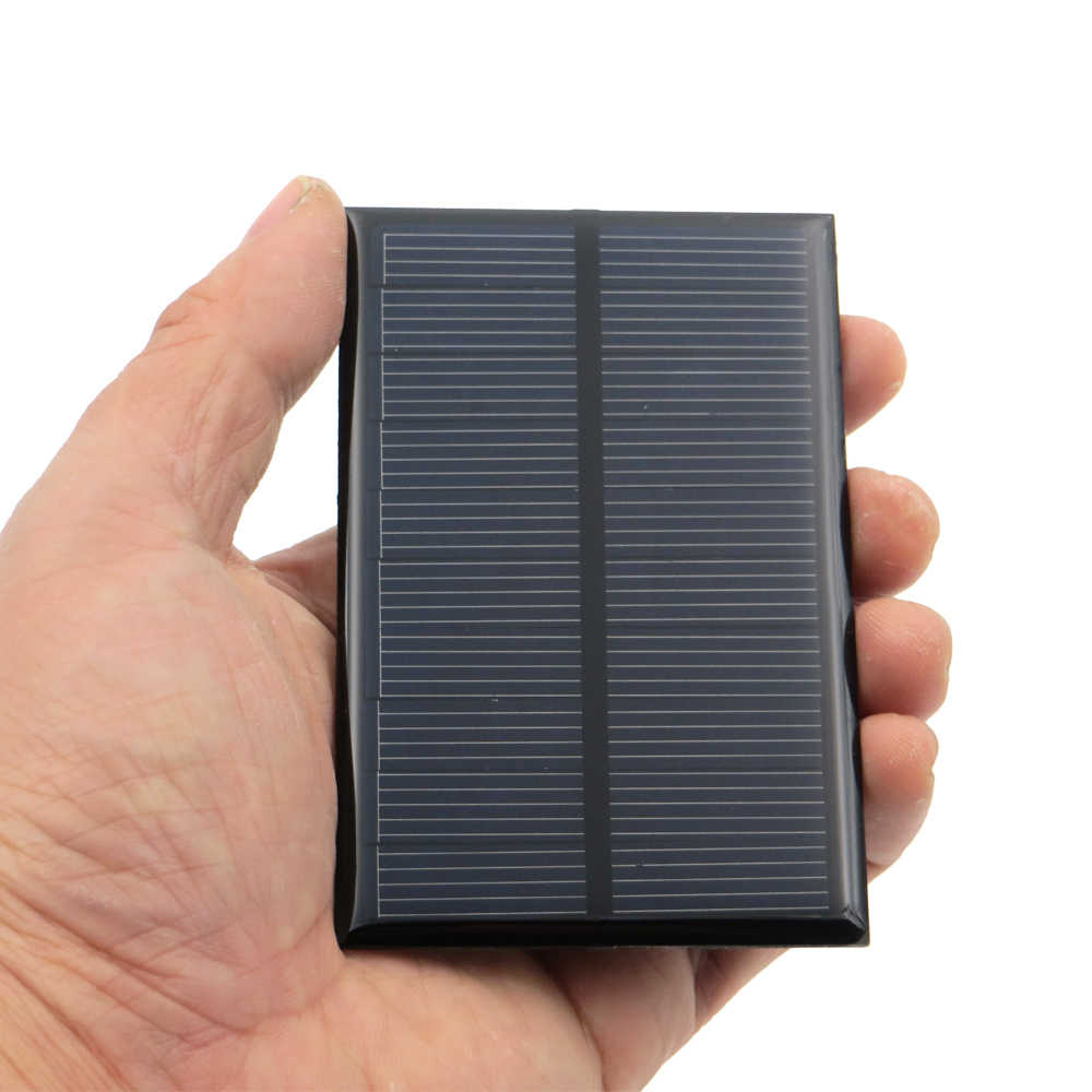 5V 150mA 0.75Watt Solar Panel Standard Epoxy Polycrystalline Silicon DIY Battery Power Charge Module Mini Solar Cell toy