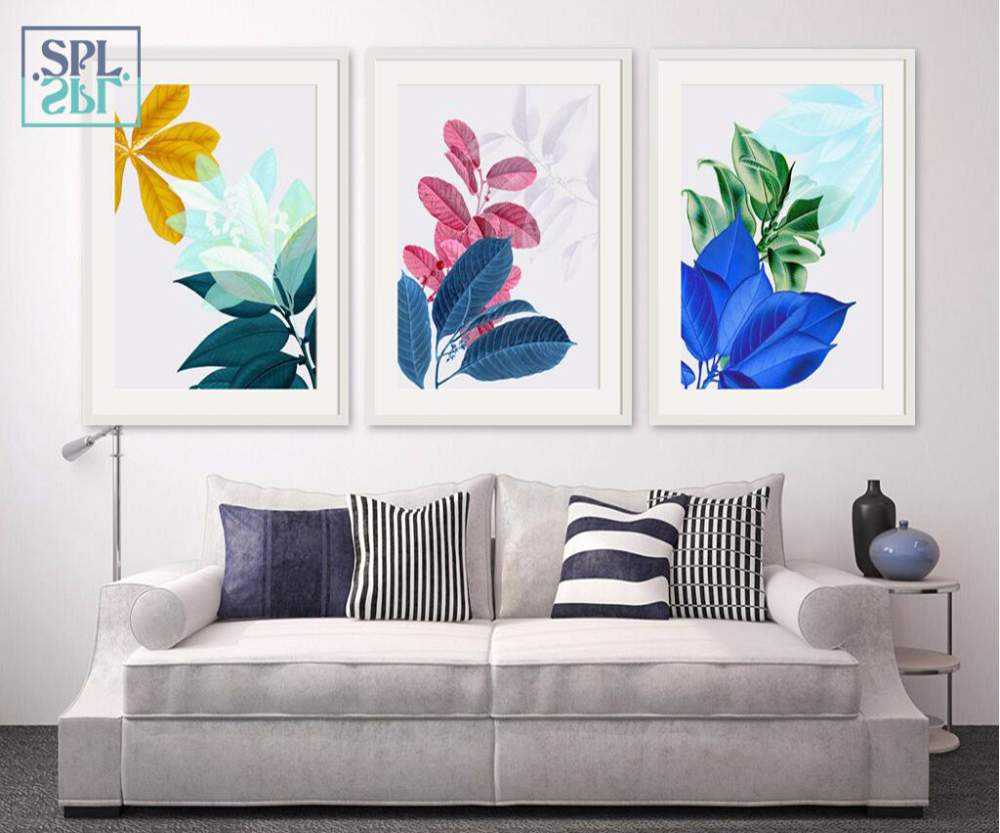 SPLSPL Posters And Prints Wall Art Canvas Painting Green Plant Pictures For Living Room Nordic Decoration Bedroom Ornamentation