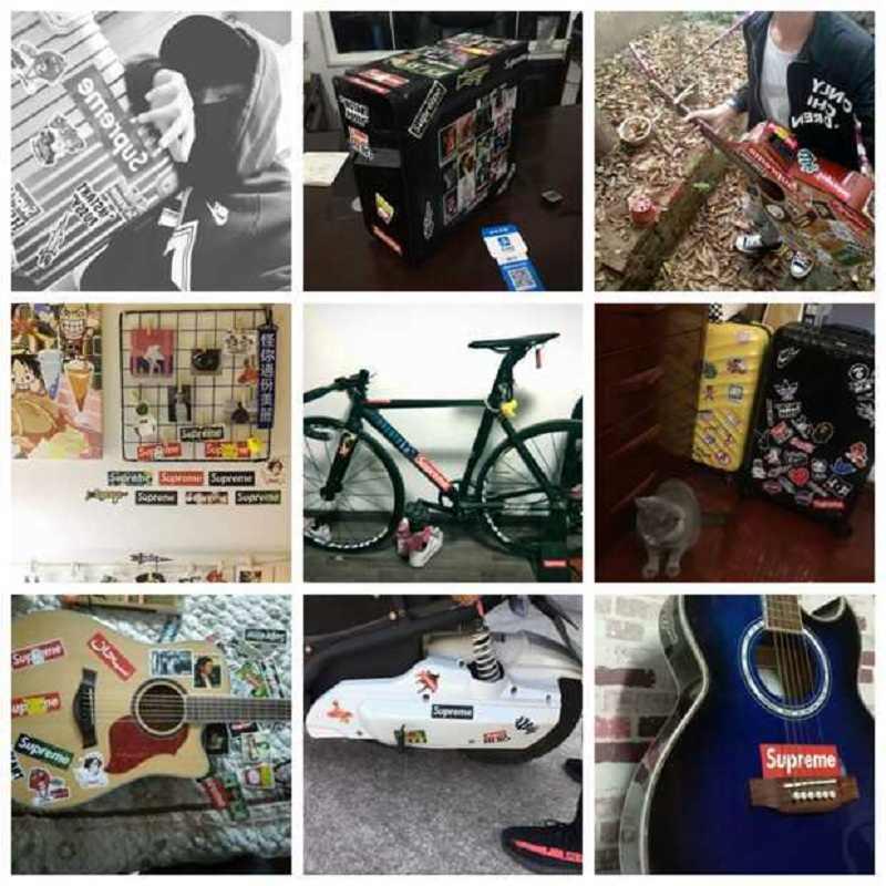 35 unids/lote galaxia Animal pegatina personalidad diamante estilo DIY Skateboard coche bicicleta moto impermeable JDM Graffiti pegatinas