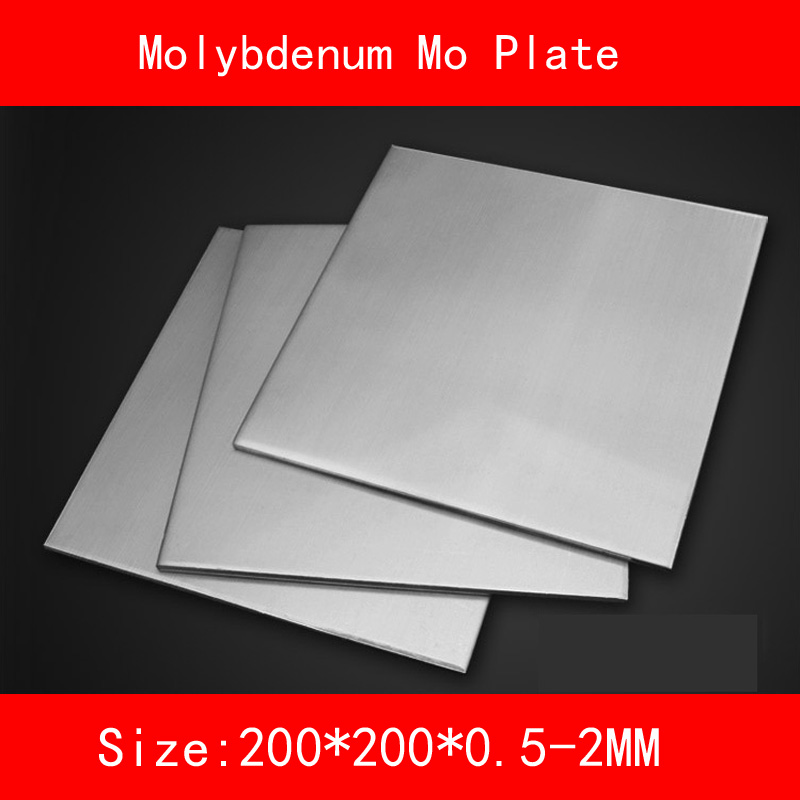 Molybdenum plate size 200*200mm thickness 0.5-2mm metal Mo SheetMolybdenum plate size 200*200mm thickness 0.5-2mm metal Mo Sheet