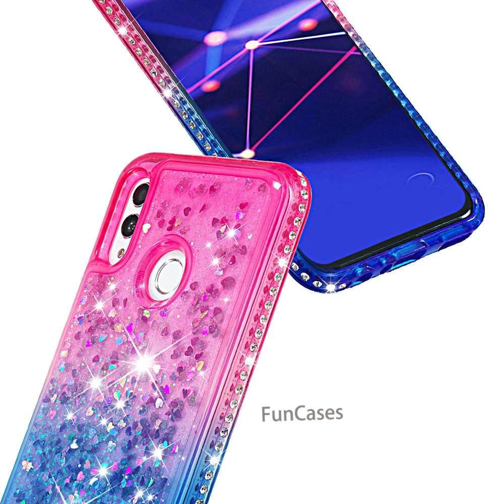 Liquide Paillettes Téléphone étui pour Huawei P Smart 2019 Étui En Silicone TPU Souple Quicksand Couverture Arrière Coque Huawei Honor 10 Lite