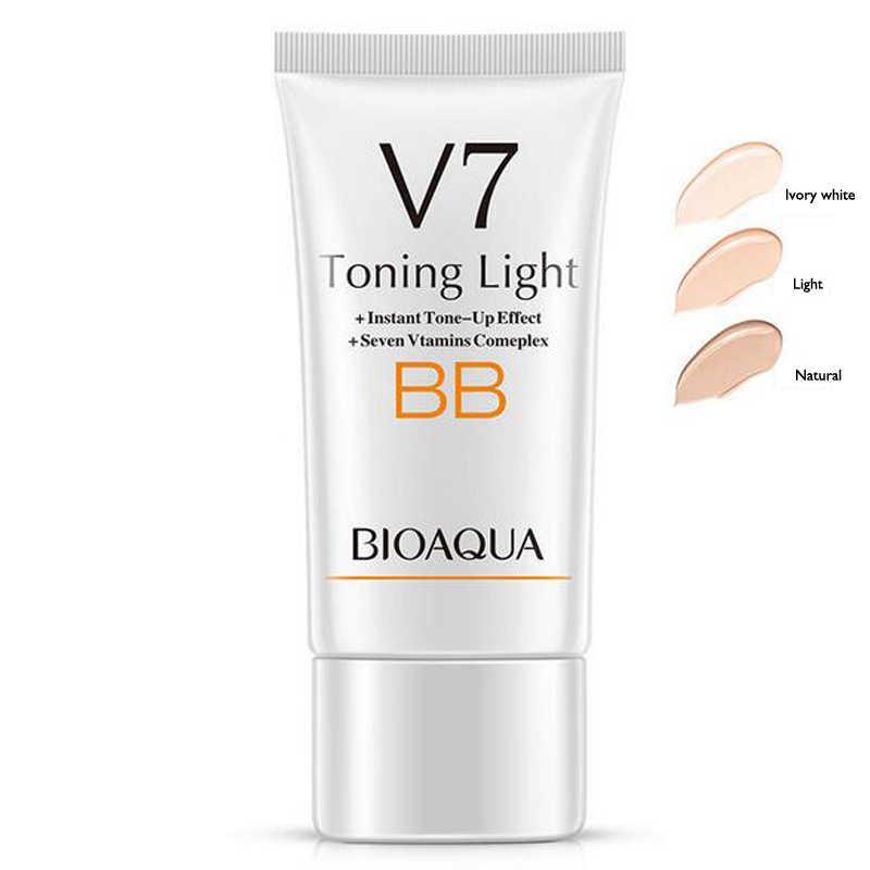 BIOAQUA ماركة V7 فيتامين التنغيم ضوء BB كريم طويل الأمد العارية ماكياج المخفي سطع مقاوم للماء CC كريم الوجه العناية بالبشرة