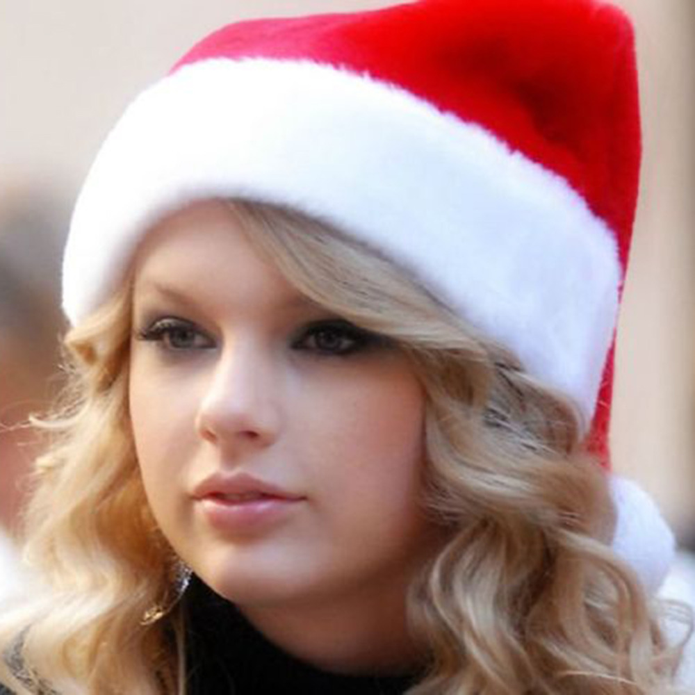 NEW Christmas Hats Velvet Cap Winter Skullies Santa Claus Father Beanies Xmas Costume Christmas Decoration Supplies Adult Size skullies