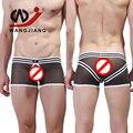 Gay Men Underwear Boxers Sexy Calzoncillos Boxer Shorts Cueca Male Underwear String Homme Net Yarn Nylon WJ Brand Sexy