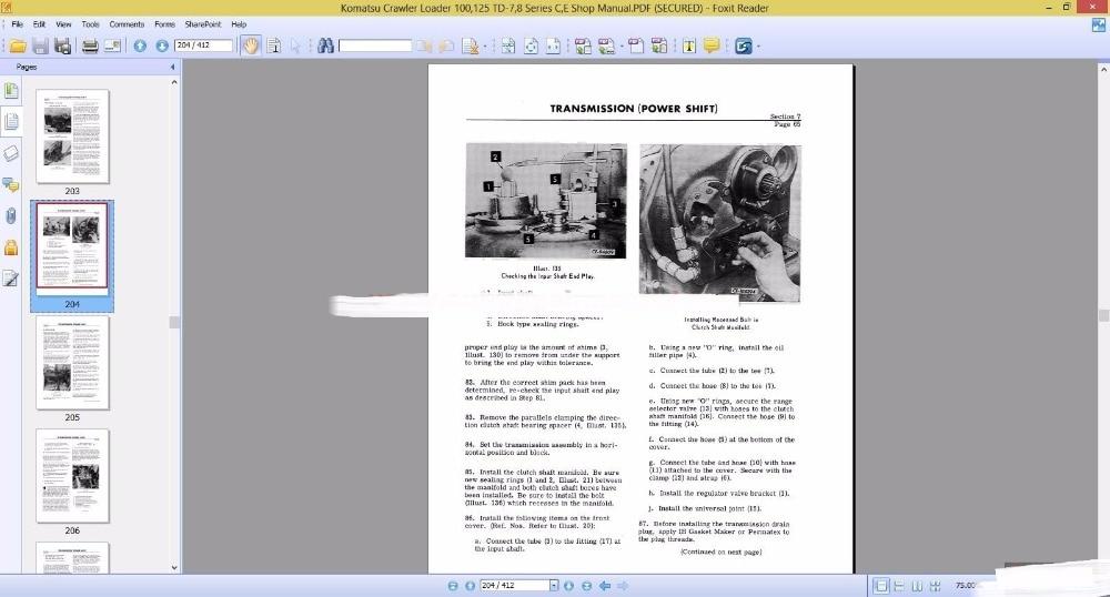 Komatsu All Models Shop Manual 2017 PDF 70GB