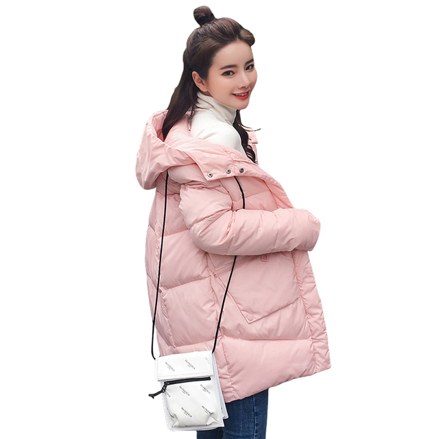 Thick Warm Hooded Long Down Parkas Women Down Jacket Winter Coat Cotton Padded Jacket Woman Winter Jacket Coat Female New 2019 1